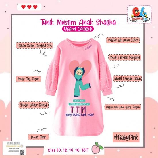 Tunik Anak Shaliha Series Baby Pink