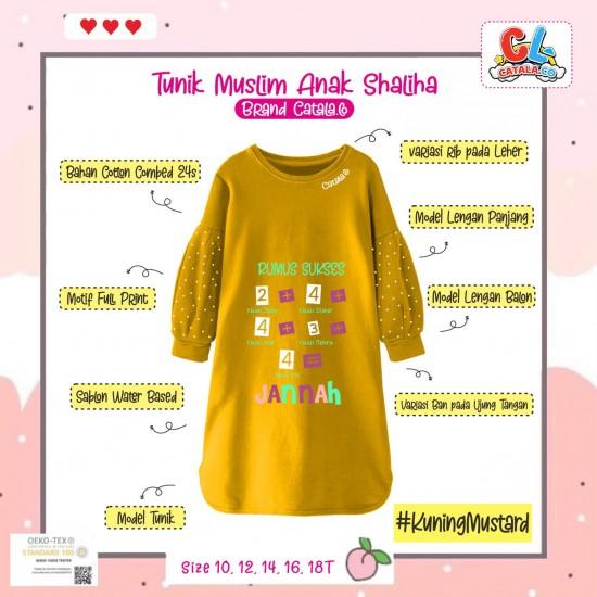 Tunik Anak Shaliha Series Kuning Mustard