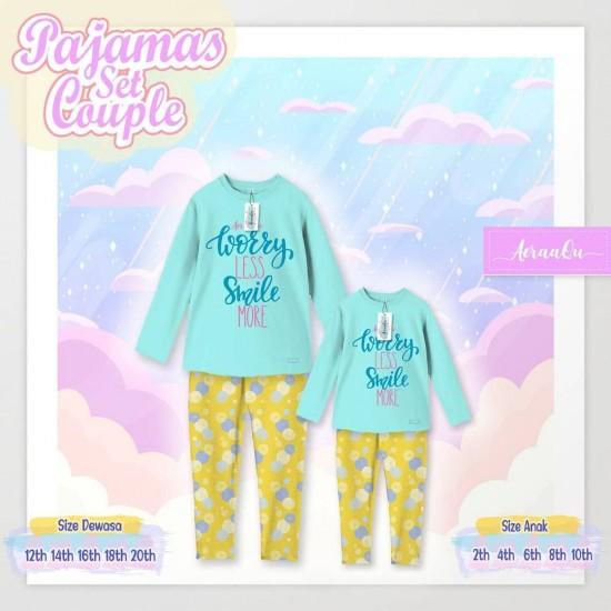 Pajamas Set Couple Aeraaqu Dewasa Blue