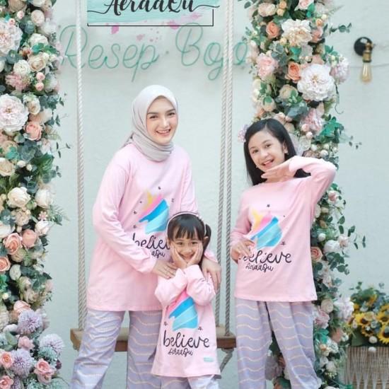 Pajamas Set Couple Aeraaqu Dewasa Pink
