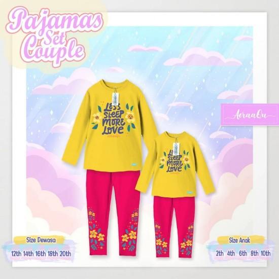 Pajamas Set Couple Aeraaqu Kids Yellow