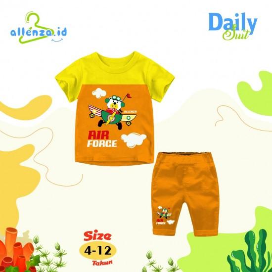 Baju Anak Daily Suit Allenza Boys Yellow Orange