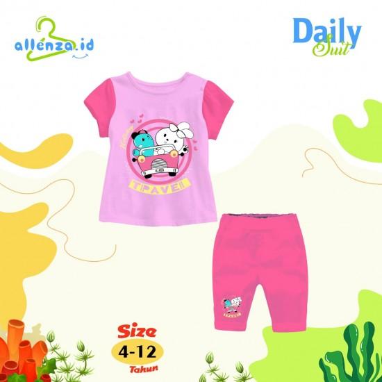 Baju Anak Daily Suit Allenza Girls Peach Light Pink