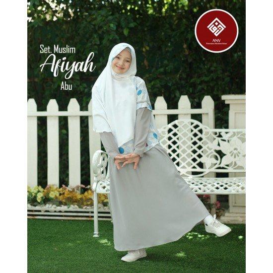Gamis Anak Afiyah Series Abu