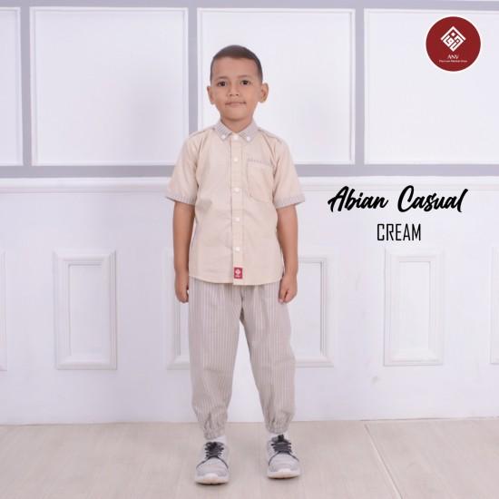 Baju Koko Anak Abian Series Cream