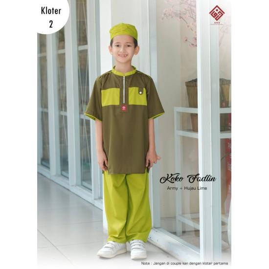 Koko Anak Fadlin Series Army-Hijau Lime