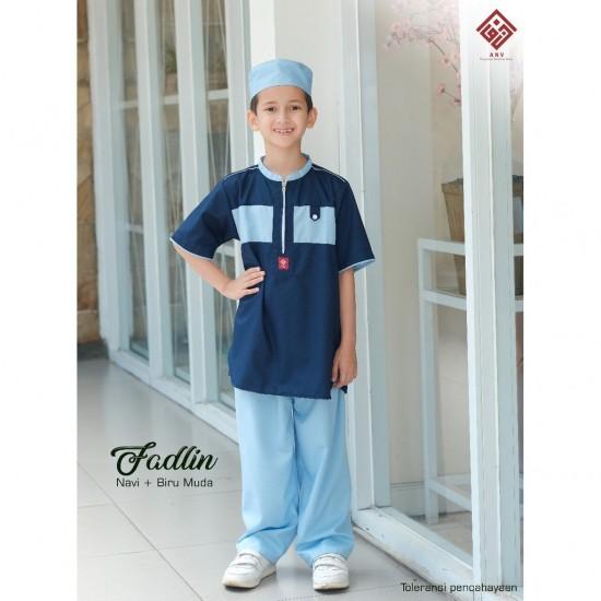 Koko Anak Fadlin Biru Muda - Navy