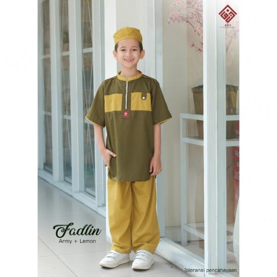 Koko Anak Fadlin Hijau Lime - Army