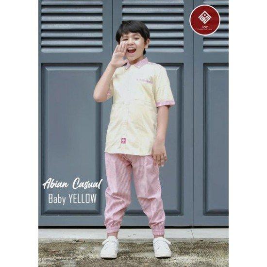 Baju Koko Remaja Abian Series Baby Yellow