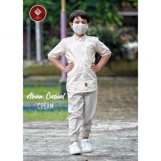 Baju Koko Remaja Abian Series Cream