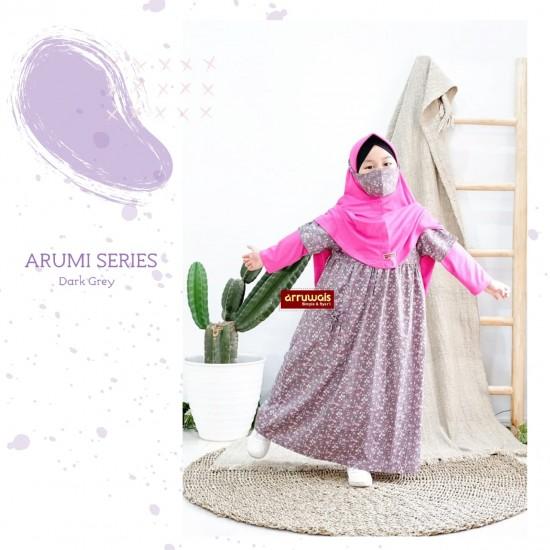 Gamis Anak Arumi Series Dark Grey
