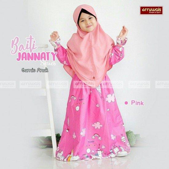 Gamis Anak Baiti Jannaty Pink