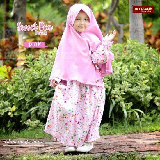 Gamis Anak Sweet Pea Pink