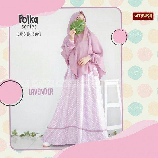 Gamis Polka Ibu Lavender - Arruwais