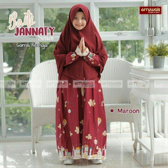 Gamis Remaja Baiti Jannaty Maroon