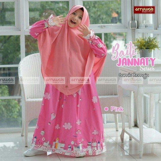 Gamis Remaja Baiti Jannaty Pink