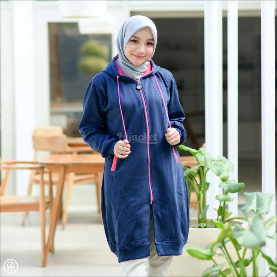Hijacket Basic Navy Pink