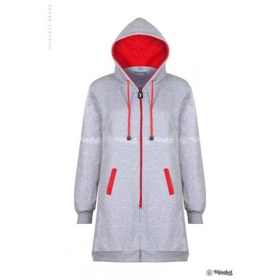 Hijacket Basic Grey Red