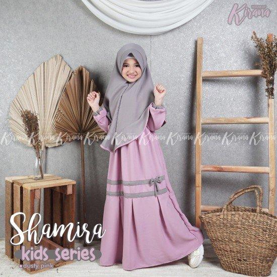 Gamis Anak Shamira Series Dusty Pink