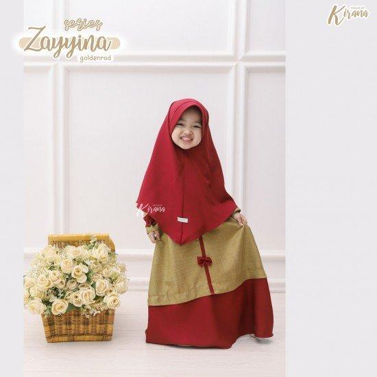 Gamis Anak Zayyina Series Golden Rod