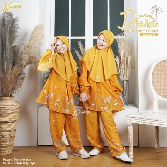 Home Dress Anak Diara Series Mustard