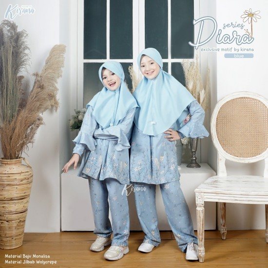 Home Dress Anak Diara Series Blue