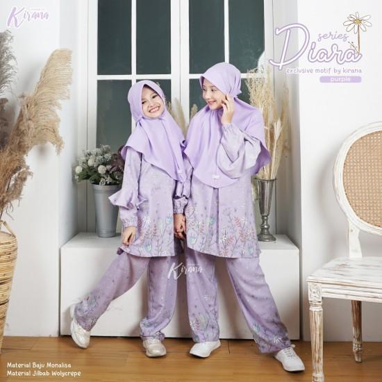 Home Dress Anak Diara Series Purple