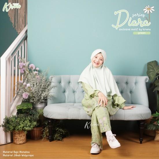 Home Dress Remaja Diara Series Green