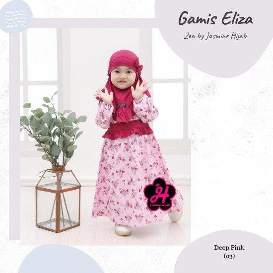 Gamis Anak Eliza Series Deep Pink