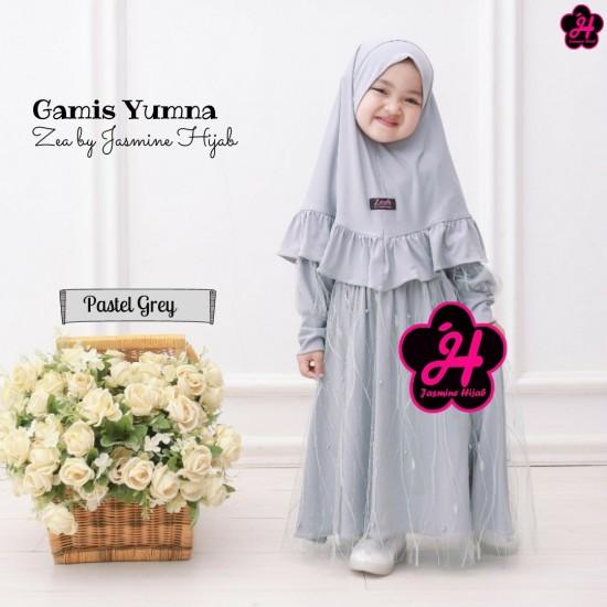Gamis Anak Yumna Series Pastel Grey