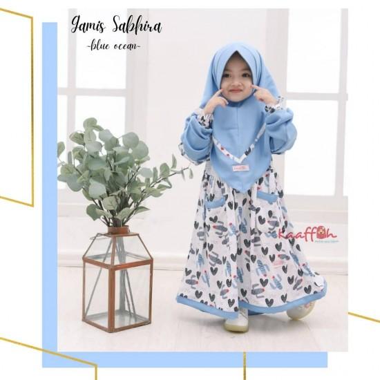Gamis Anak Sabhira Series Blue Ocean