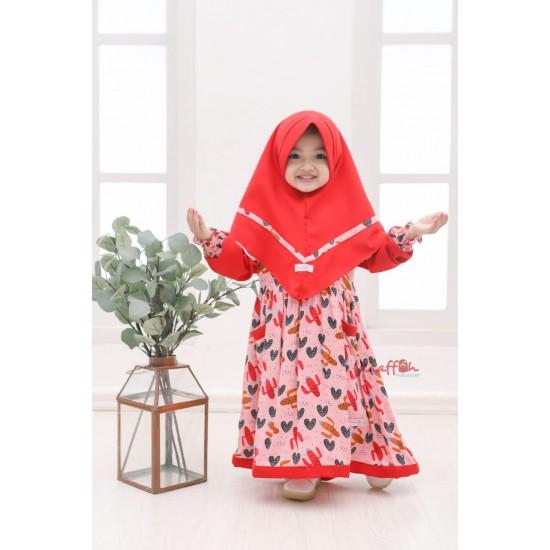 Gamis Anak Sabhira Series Rose Berry