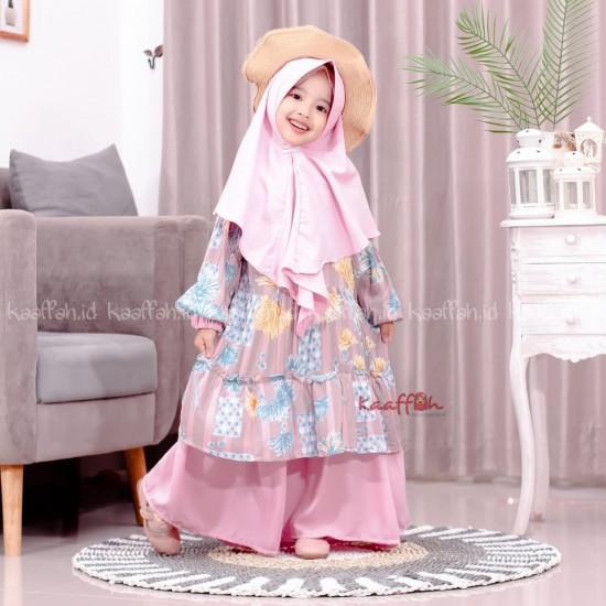 Gamis Couple Nadeera Anak Blush Pink