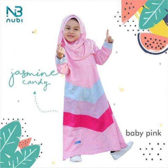 Gamis Anak Jasmine Candy Kids Baby Pink