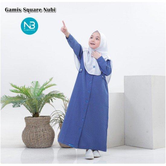 Gamis Anak Square Series Navy