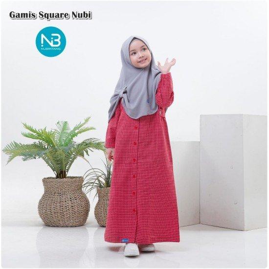 Gamis Anak Square Series Merah