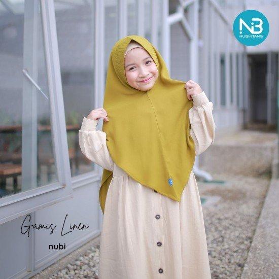 Gamis Anak Linen Series Krem