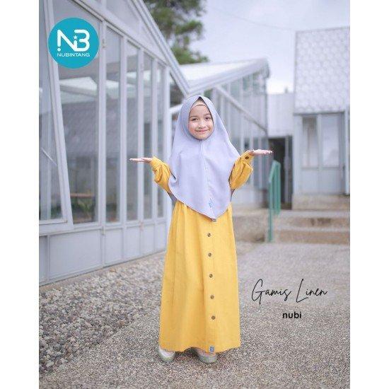 Gamis Anak Linen Series Mustard