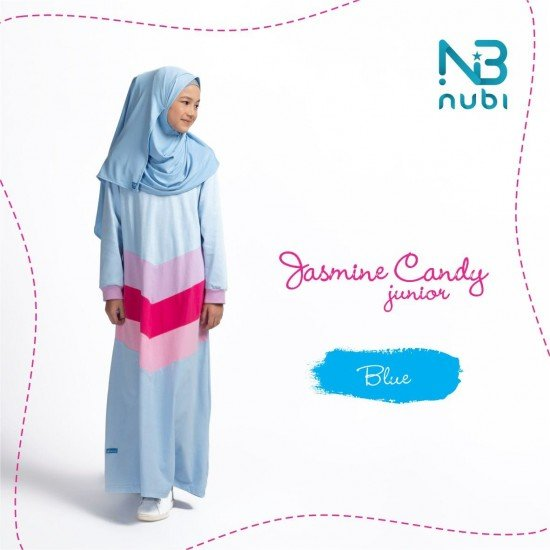 Gamis Remaja Jasmine Candy Junior Blue