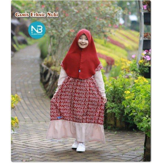 Gamis Remaja Ethnic Junior Merah