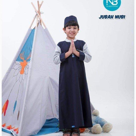 Gamis Remaja Jubah Junior Navy
