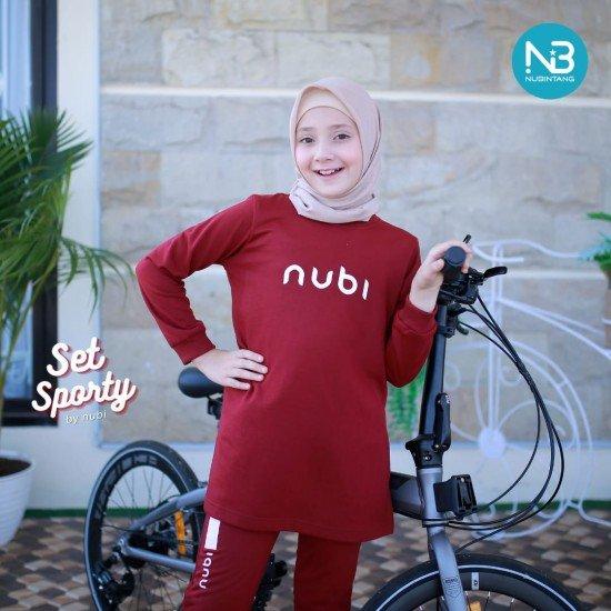 Jaket Sporty Nubi Maroon