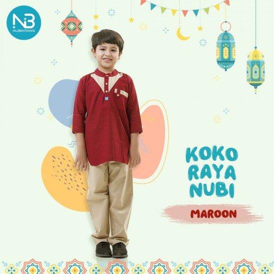 Koko Anak Raya Kids Maroon
