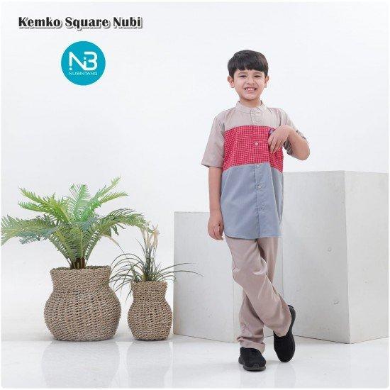 Koko Anak Square Series Merah