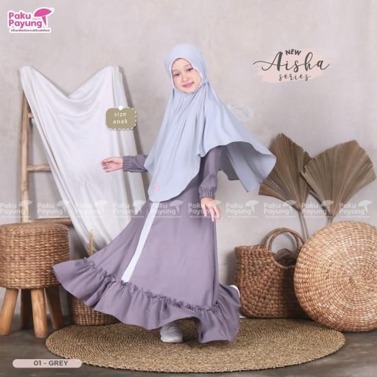 Gamis Anak Aisha Series Grey