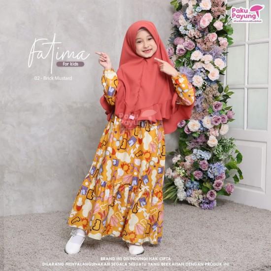 Gamis Anak Fatima Series Brick Mustard