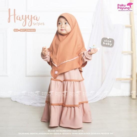 Gamis Anak Hayya Series Soft Orange