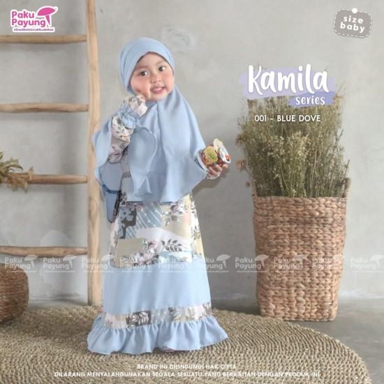 Gamis Anak Kamila Series Blue Dove