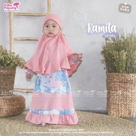 Gamis Anak Kamila Series Soft Pink