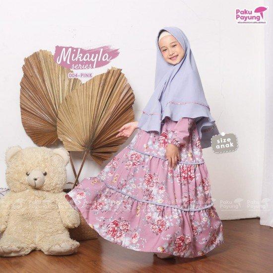 Gamis Anak Mikayla Series Pink